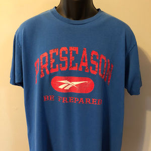 90s Reebok Logo Preseason Shirt Football Baseball